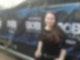 Sabrina vor dem Radio Bob! Banner beim 30 Seconds to Mars Konzert.jpg